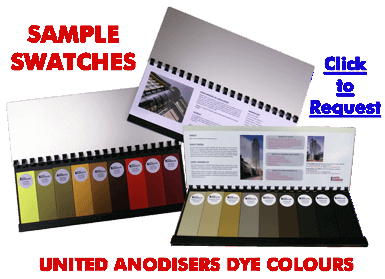 United Anodisers sample dye colours