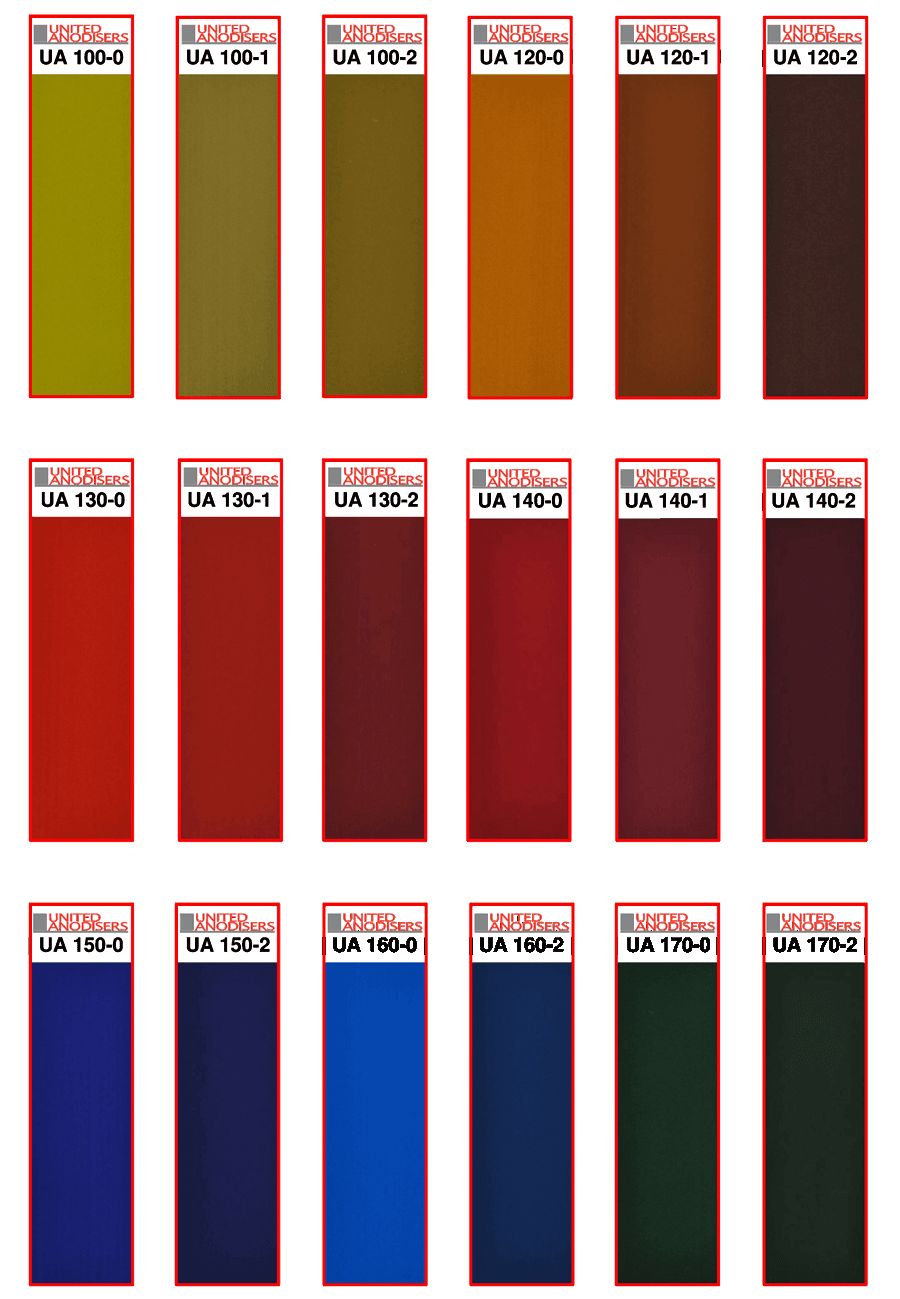 Sandalor Colour Chart